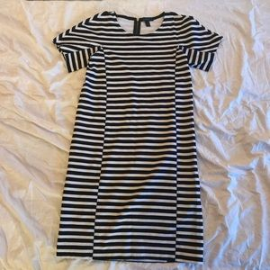 J Crew Striped Bodycon Dress